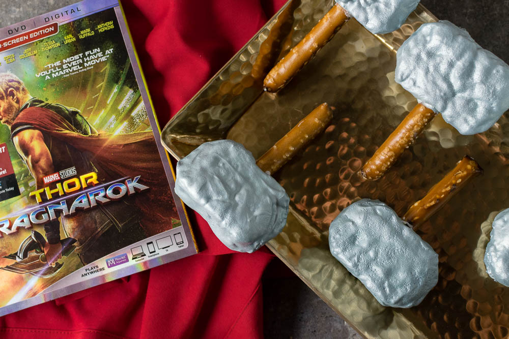 Thor Recipes   Avengers Recipes   Marvel Recipes   The Geeks have created a new recipe for the home release of Thor: Ragnarok, Mjolnir Treats. These treats are sure to please your little Avenger! [sponsored] 2geekswhoeat.com