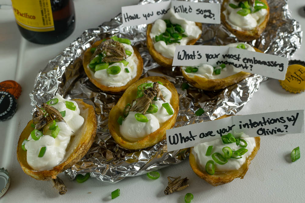 Appetizer Recipes | Horror Movie Recipes | Movie Food | Game Day Recipes | Inspired by Blumhouse Films' Truth or Dare, The Geeks have come up with their own recipe version of the game, Truth or Taters. 2geekswhoeat.com