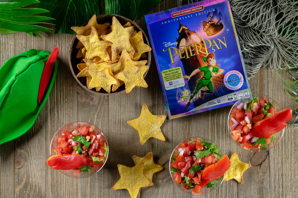 Disney Recipes | Disney Food | Appetizer Recipes | Dip Recipes | To celebrate the 65th Anniversary of Peter Pan and its Walt Disney Signature Collection Blu-ray release, The Geeks have created a recipe for Lost Boys Layer Dip and Second Star Chips! [sponsored] 2geekswhoeat.com