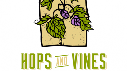 Hops and Vines Art Festival Logo