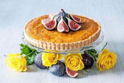 Stu Henshall's Fig and RoseFrangipane Tart