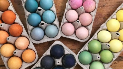 Whole Foods Naturally Dyed Easter Eggs
