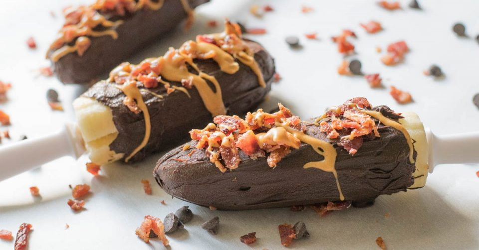 The Geeks wrap up Bacon Week with their Frozen Chocolate Dipped Bacon Banana Pop recipe inspired by Elvis Presley's favorite sandwich!