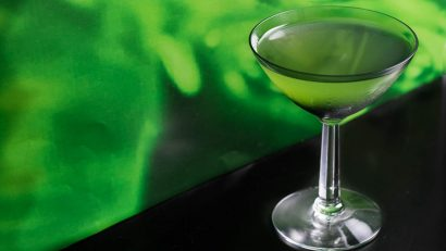 The Boozy Slimeade is a fun and geeky cocktail that uses Hi-C Ecto Cooler as its base! 2geekswhoeat.com #geek #cocktail