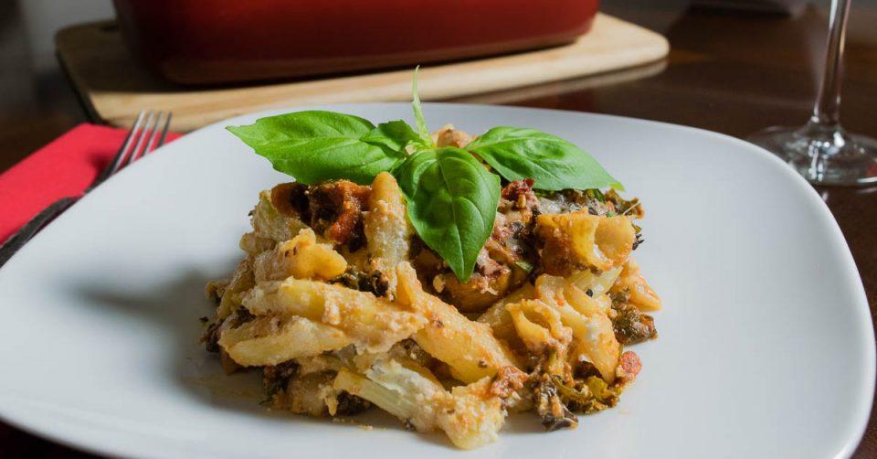 Fully Loaded Veggie Pasta Bake Facebook Cut 2geekswhoeat.com #pasta #recipe