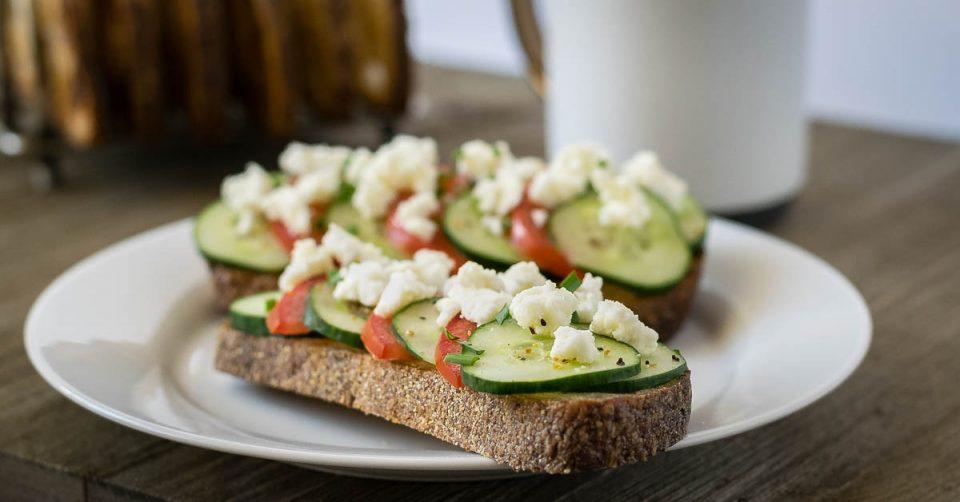 Mediterranean Salad Toast: A Farmer's Market Recipe