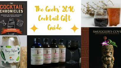 The Geeks have compiled their 2016 Cocktail Gift Guide, perfect for the cocktail lover in your life! 2geekswhoeat.com #cocktails #giftguide