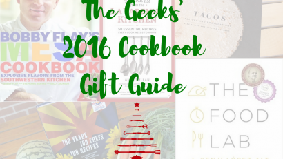 The Geeks share their 2016 Cookbook Gift Guide featuring some of their favorite cookbooks! 2geekswhoeat.com #gift #cookbooks