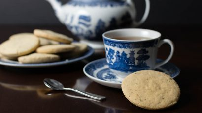 Shortbread | Tea | These Tea Leaf Shortbread Cookies are inspired by Jordan Peele's Thriller Get Out and are the perfect tea time treat! 2geekswhoeat.com