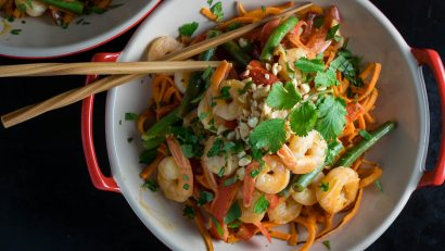 Sweet Potato | Stir Fry | The Geeks share some tips and tricks for sweet potatoes along with a recipe for Shrimp and Sweet Potato Stir Fry 2geekswhoeat.com