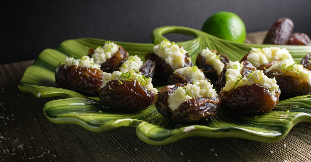 Coconut-Lime Stuffed Dates: A Moana Inspired Recipe - Geeks Who Eat