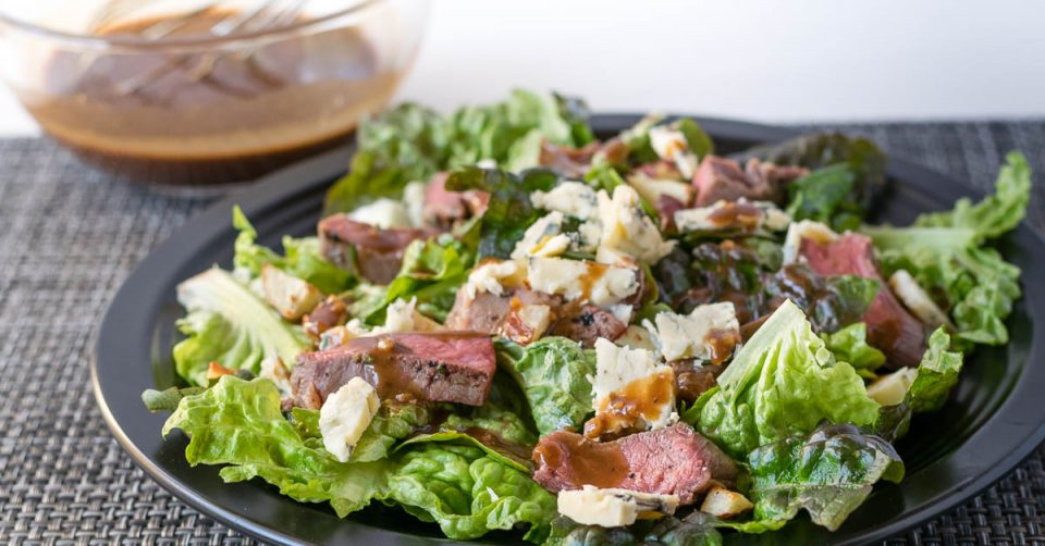 Salad Recipes | Beef Recipes | For their March recipe for Phoenix Public Market, The Geeks have created a Rosemary Brined Steak Salad perfect for meat eaters and salad lovers alike! 2geekswhoeat.com