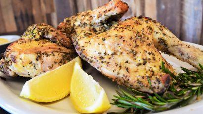 Chicken Recipes | Lemon Chicken | Chef Kody Harris of Fresko has shared his recipe for Roasted Half Chicken with Lemons 2geekswhoeat.com