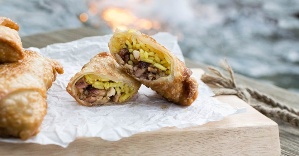 Jerk Chicken   Movie Recipes   Egg Rolls   The Geeks have created a recipe for Jerk Chicken Egg Rolls themed after Lionsgate's release of Extortion starring Elon Bailey. [Sponsored] 2geekswhoeat.com