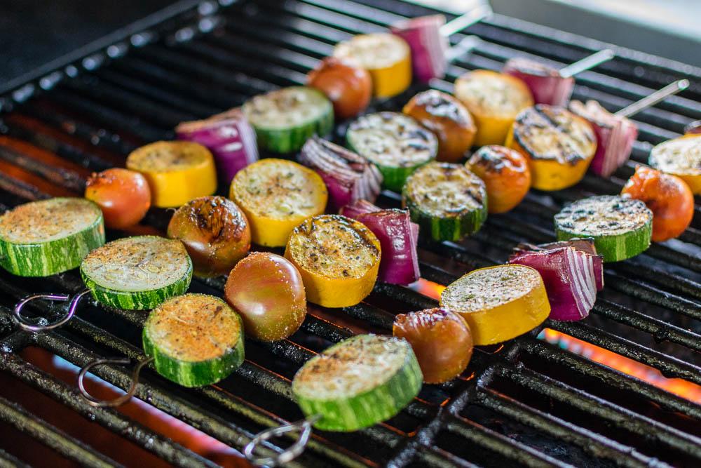 Grilled Cajun Veggie Kabobs: A Farmer's Market Recipe - Geeks Who Eat