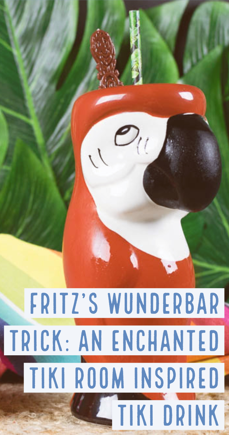 Tiki Drinks   Disney Recipes   Cocktails   The Geeks have created a series of Tiki Drinks inspired by The Enchanted Tiki Room birds, the 3rd tiki drink is based on the German parrot Fritz. 2geekswhoeat.com