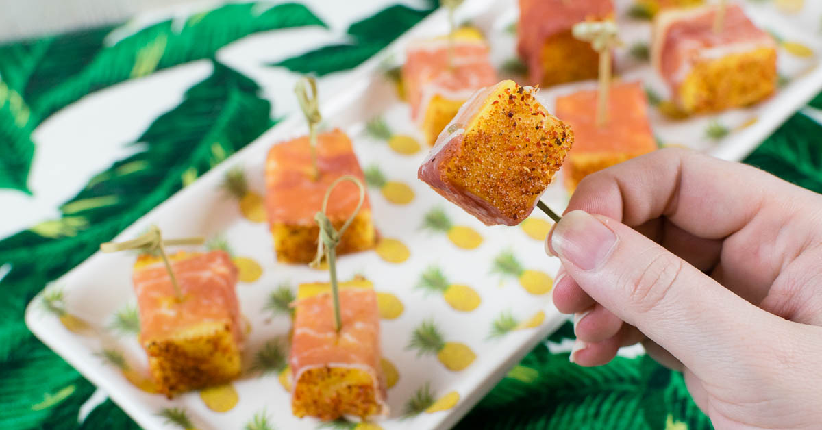 The Geeks' Guide to Throwing a Tiki Party + Prosciutto Pineapple Bites Recipe