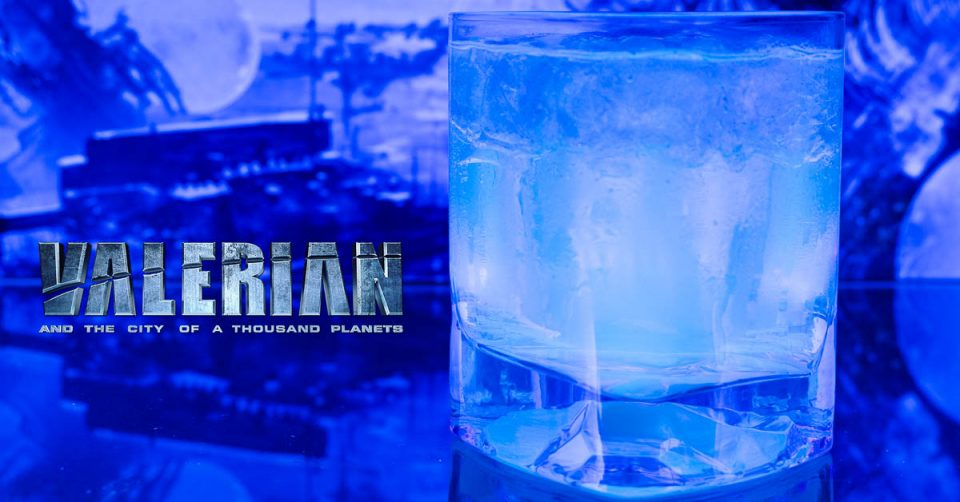 Movie Recipes | Comic Book Recipes | Cocktails | The Geeks have created a UV reactive cocktail, The Alpha Cocktail, inspired by the release of Valerian and the City of a Thousand Planets. [giveaway] 2geekswhoeat.com