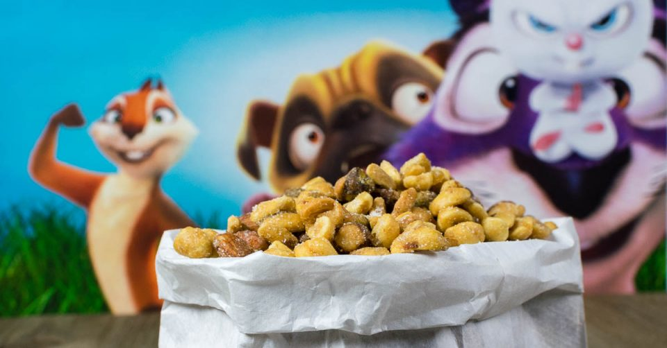 Food Gifts | Recipes | Movie Recipes | Not only are these Honey Ginger Candied Nuts inspired by a cute movie, but they make a great gift too! [sponsored] 2geekswhoeat.com