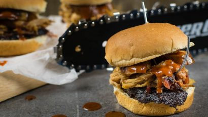 BBQ Recipes | Movie Recipes | Horror | Excited for the release of Lionsgate's Leatherface, The Geeks have created an easy recipe featuring Texas BBQ flavors, All the Meats Sliders. [sponsored] 2geekswhoeat.com