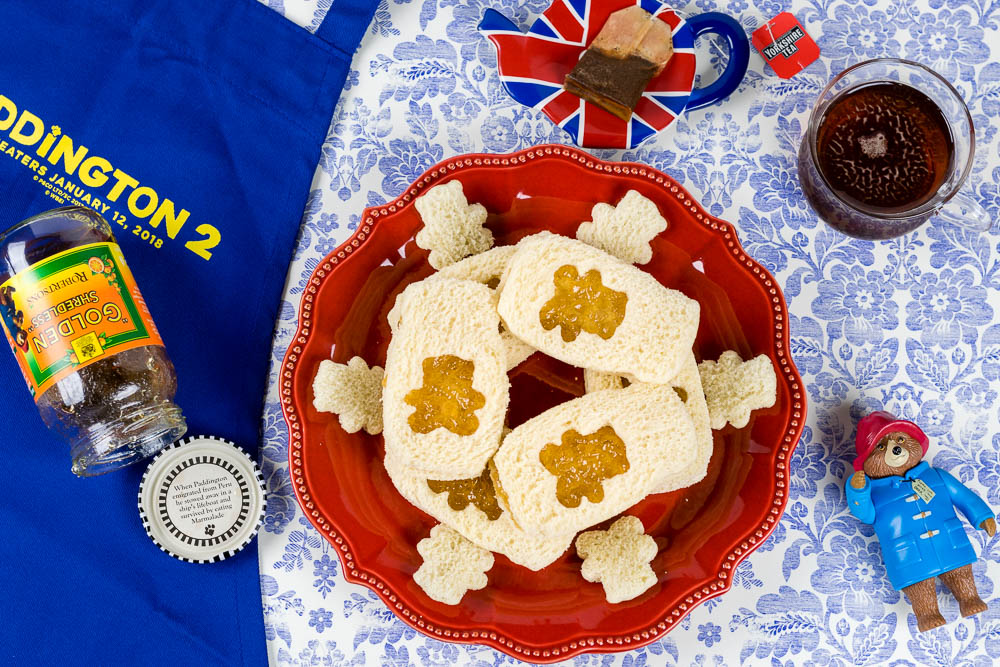 Tea Sandwich Recipes | Tea Party | Paddington Recipes | Recipes for Kids | The Geeks have created Marmalade Tea Sandwiches for the release of Paddington 2. These adorable sandwiches are perfect for a tea party inspired by the English bear! 2geekswhoeat.com