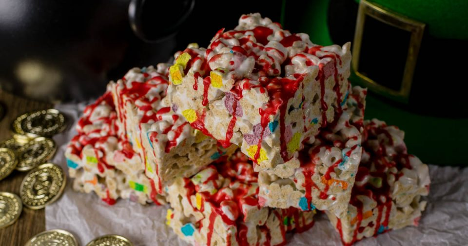St. Patrick's Day Recipes | Dessert Recipes | Geeky Food | Geeky Recipes | Just in time for St. Patrick's Day, The Geeks have created a geeky recipe for O'Grady's Lucky Treats inspired by the horror film Leprechaun. 2geekswhoeat.com