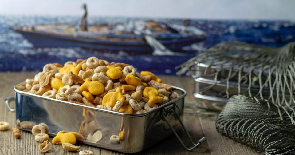 Snack Recipes | Movie Recipes | Movie Food | Geeky Recipes | The Geeks have created a brand new snack, Seafarer's Snack Mix. The mix is inspired by the film Adrift starring Shailene Woodley and Sam Clafin. 2geekswhoeat.com