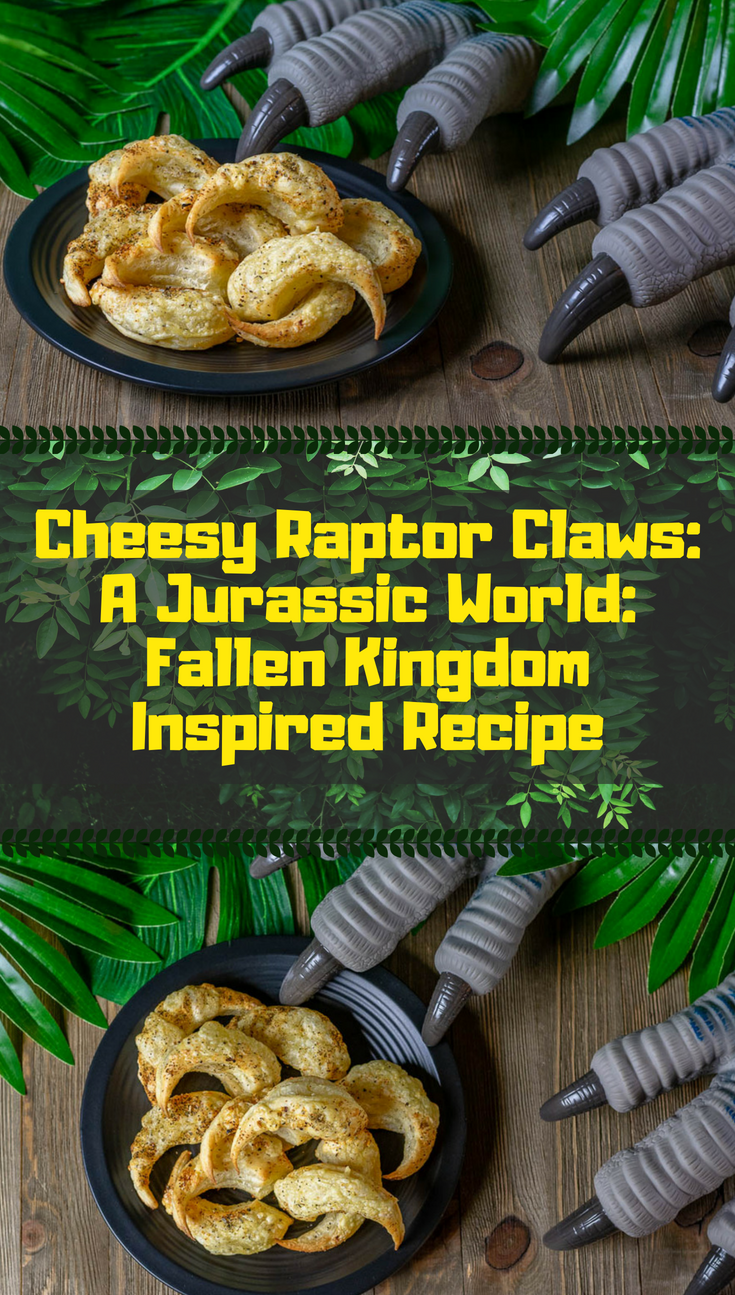 Dinosaur Recipes | Jurassic Park Recipes | Appetizers | Easy Recipes | In anticipation for Jurassic World: Fallen Kingdom, The Geeks have created a super easy and tasty recipe for Cheesy Raptor Claws! 2geekswhoeat.com