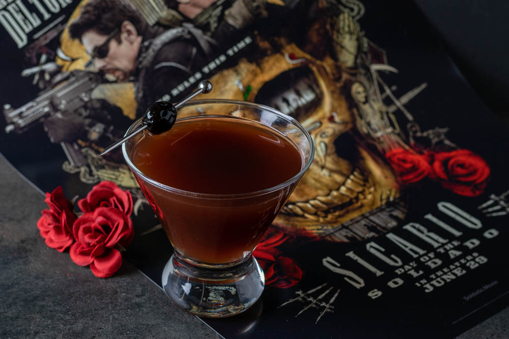 Cocktail Recipes | Geeky Recipes | Movie Inspired Recipes | Tequila Recipes | Rum Recipes | The Geeks have created a new tequila and rum cocktail, The Soldado, inspired by SICARIO: Day of the Soldado starring Josh Brolin and Benicio Del Toro. 2geekswhoeat.com