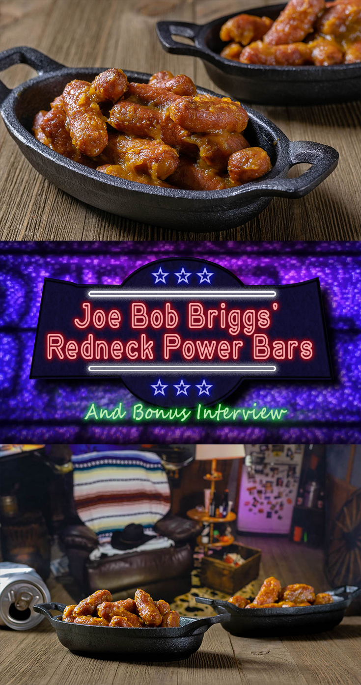 In anticipation of Shudder's The Last Drive-In Marathon, The Geeks interview horror host Joe Bob Briggs, talking about movies, food, and how they intersect. 2geekswhoeat.com #HorrorMovieFood #AppetizerRecipes #GameDayRecipes #TheLastDriveIn #MutantFam #GeekyRecipes