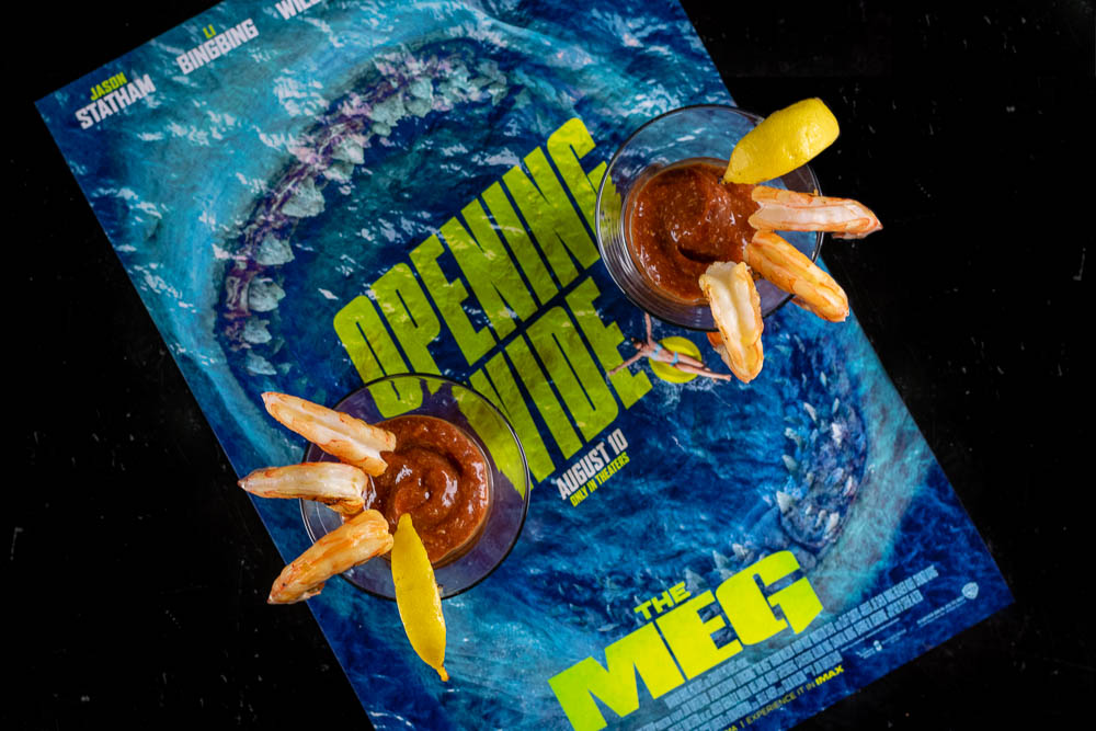 Shrimp Cocktail | Movie Inspired Recipes | Appetizers | The Geeks created a mega recipe, Meg-a Shrimp Cocktail, for the summer hit The Meg! 2geekswhoeat.com
