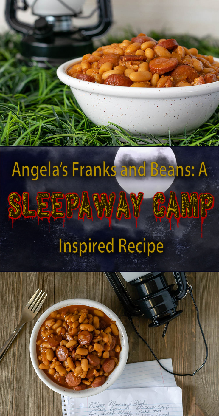 Sleepaway Camp | Horror Food | Horror Movie Food | Halloween | Horror Recipes | Get ready for Shudder's The Last Drive-In with our newest recipe Angela's Franks and Beans inspired by Sleepaway Camp! 2geekswhoeat.com