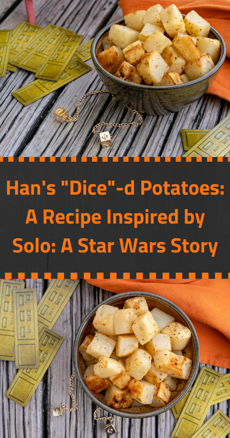 "Solo | Star Wars Recipes | Side Dishes | Han's ""Dice""-d Potatoes, inspired by Solo: A Star Wars Story, are a great way to add a bit of geek and deliciousness to your Labor Day barbecue. [sponsored] 2geekswhoeat.com"