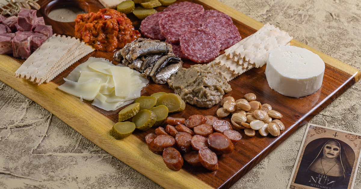 Charcuterie | Mezeluri | Entertaining | With all the excitement surround The Nun, The Geeks have created a guide to building the perfect Romanian Mezeluri Board perfect for a night in! 2geekswhoeat.com