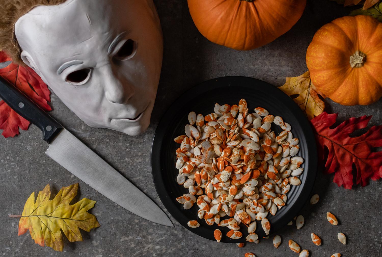Blood Spattered Pumpkin Seeds: A Halloween Inspired Recipe