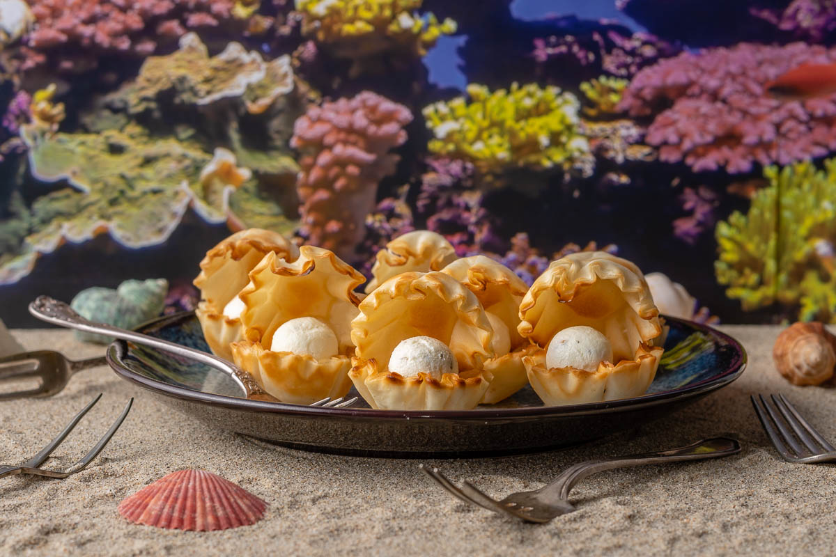 [AD] Disney Recipes | The Little Mermaid | Disney Party Recipes | Princess Party | To celebrate the 30th anniversary of The Little Mermaid, The Geeks have come up with a super easy but cute recipe for Goat Cheese Seashell Bites! This appetizer is sure to please a crowd! 2geekswhoeat.com