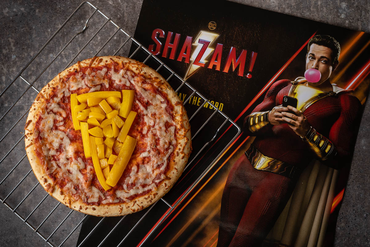 Comic Book Recipes | Geeky Recipes | Shazam Recipes | Channel your inner teenager with this delicious and healthyish Shazam! inspired recipe for Say the Word Pizza created by The Geeks! 2geekswhoeat.com