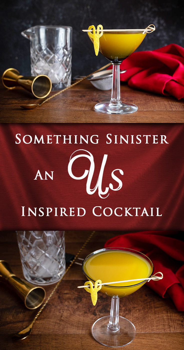Horror Recipes | Cocktail Recipes | Horror Movies | Vodka | Taking influence from Jordan Peele's latest film Us, The Geeks have created a cocktail for Vodka O'Clock but with a twist. Perhaps something more sinister. Do you dare drink it? 2geekswhoeat.com