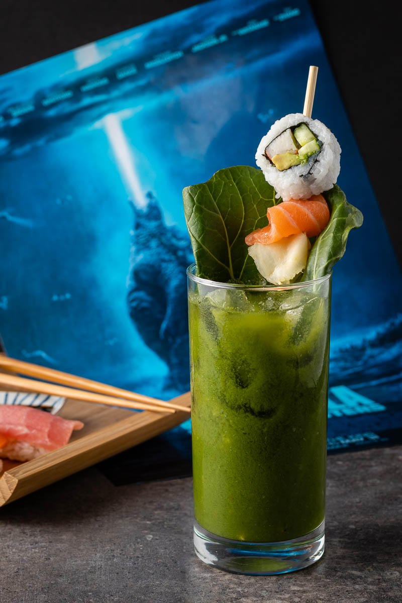 Godzilla Recipe | Green Bloody Mary Recipe | Cocktail Recipes | In anticipation for one of this summer's biggest releases, The Geeks have created a new cocktail called The Bloody Kaiju inspired by Godzilla: King of the Monsters. 2geekswhoeat
