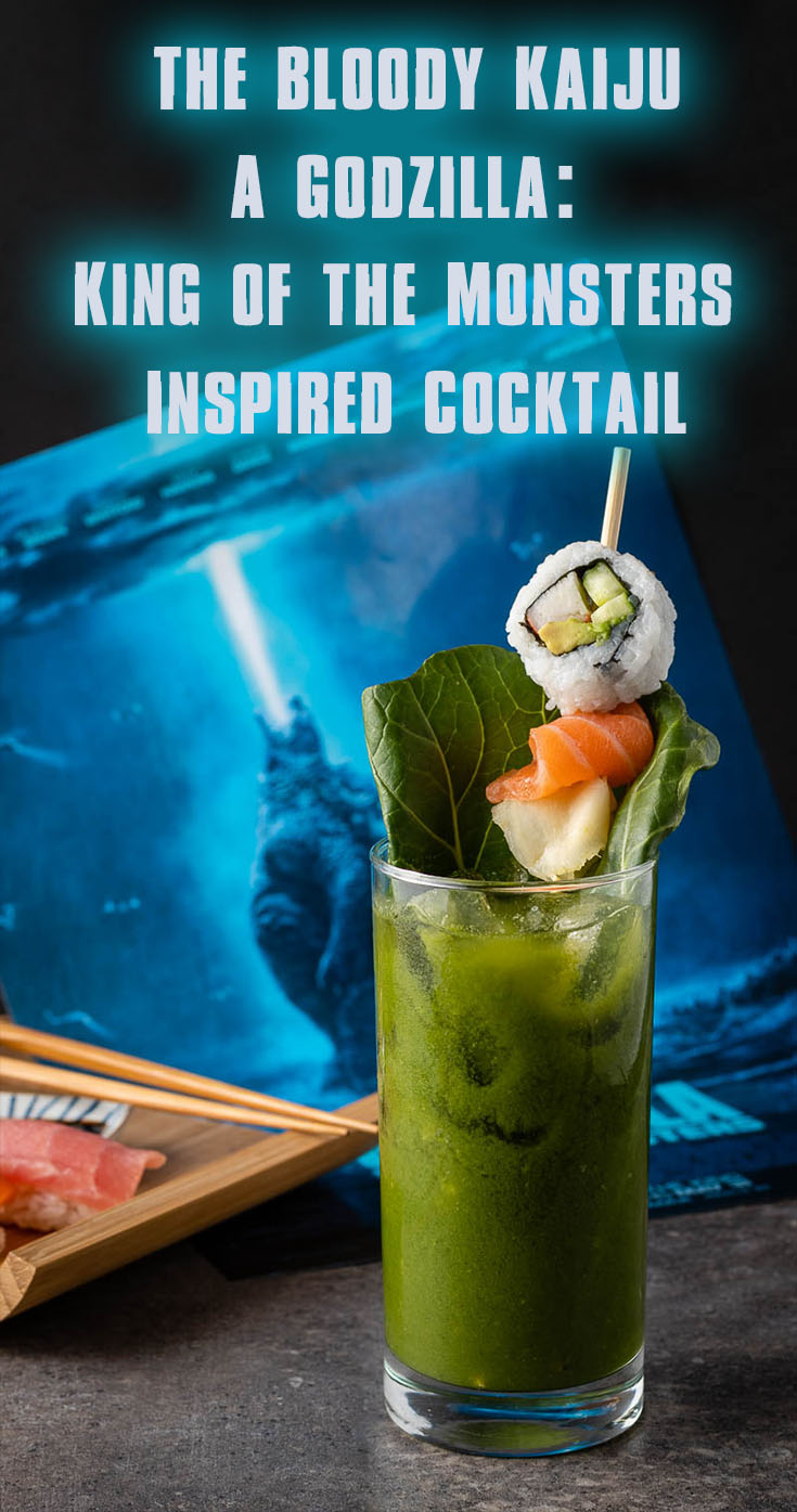 Godzilla Recipe | Green Bloody Mary Recipe | Cocktail Recipes | In anticipation for one of this summer's biggest releases, The Geeks have created a new cocktail called The Bloody Kaiju inspired by Godzilla: King of Monsters. 2geekswhoeat