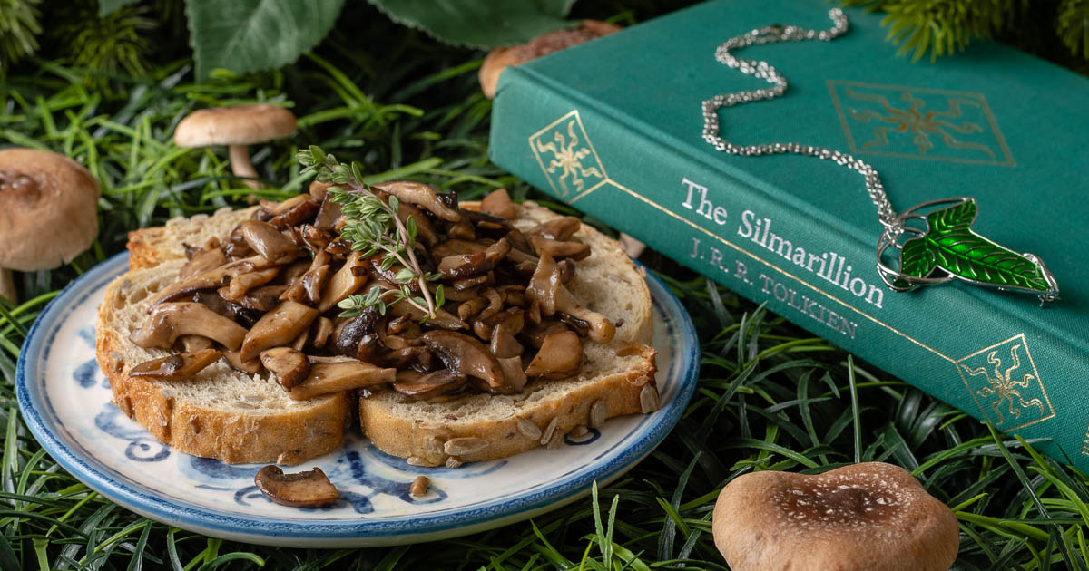 Middle-Earth Recipes | Tolkien | Lord of the Rings Recipes | Hobbit Recipes | Inspired by J.R.R. Tolkien's hobbit-like love of mushrooms and the film Tolkien, The Geeks have come up with a delicious and easy recipe for Hobbit Style Mushroom Toast. 2geekswhoeat.com