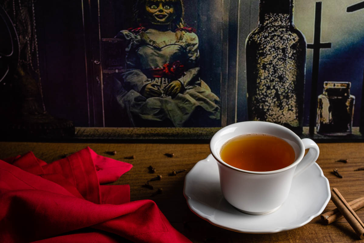 Horror Food   Horror Recipes   Apple Cider   Inspired by Annabelle Comes Home, The Geeks have created a new recipe for Spirit Soothing Cider, perfect to calm your nerves after a scary movie! 2geekswhoeat.com