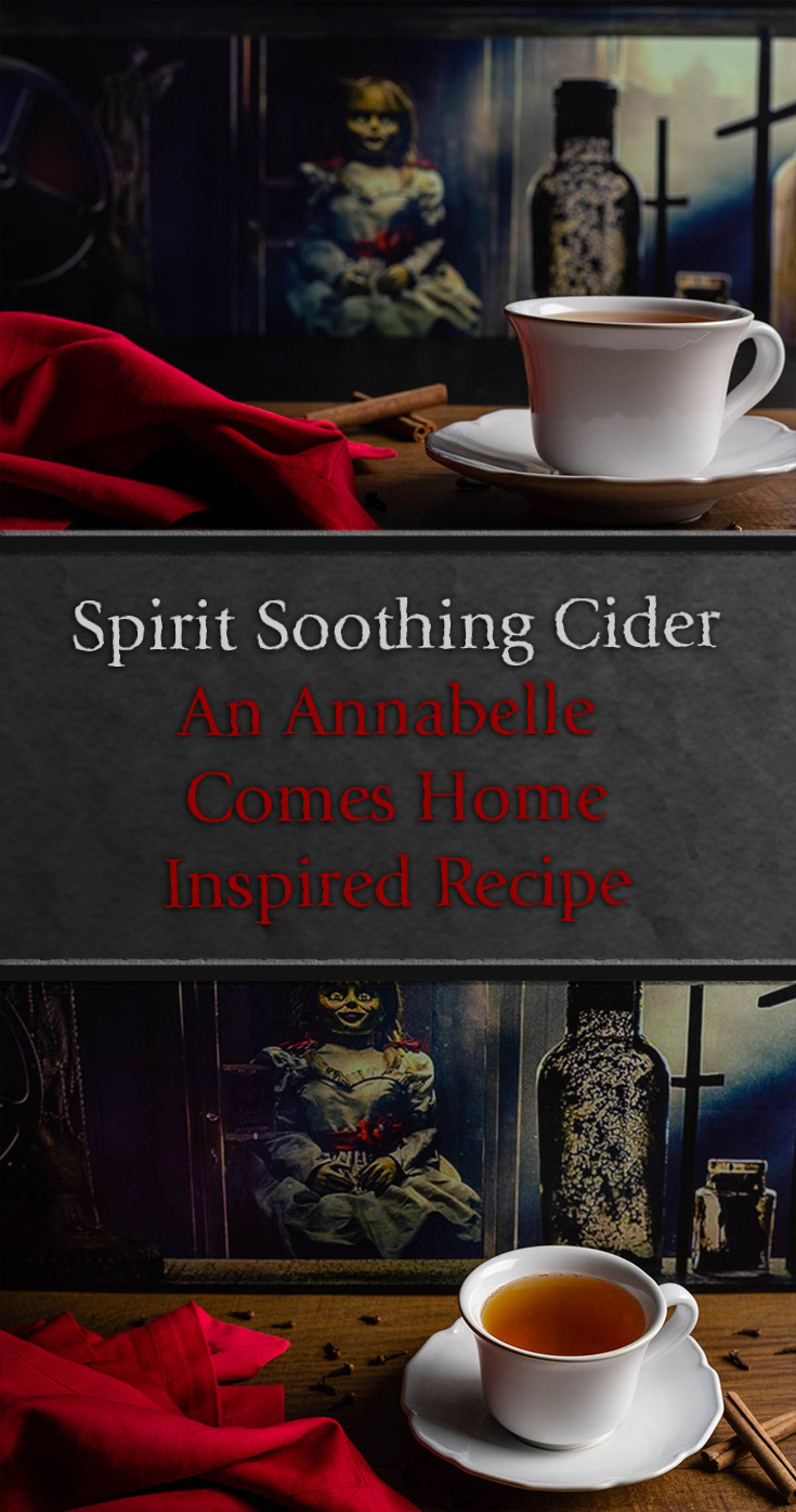 Horror Food | Horror Recipes | Apple Cider | Inspired by Annabelle Comes Home, The Geeks have created a new recipe for Spirit Soothing Cider, perfect to calm your nerves after a scary movie! 2geekswhoeat.com