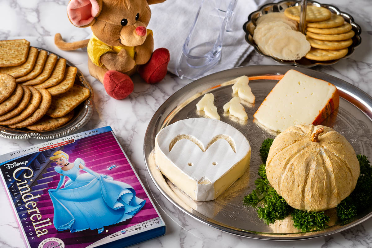 [AD] Cinderella | Disney Recipes | Disney Food | Cheese Board | Inspired by Cinderella's French setting, The Geeks have created a cheese selection featuring some French favorites styled after the films iconic moments. 2geekswhoeat.com