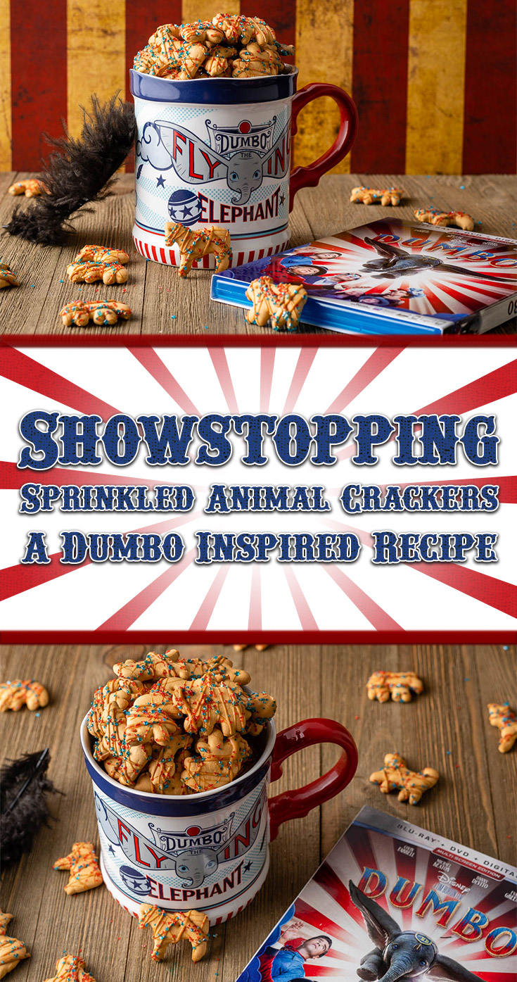 [AD] Dumbo | Disney Recipes | Disney Snacks | The Geeks have created a 2nd fun filled recipe, Showstopping Sprinkled Animal Crackers, inspired by Dumbo and perfect for movie night! 2geekswhoeat.com