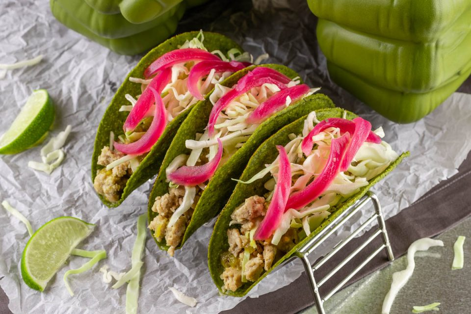[Sponsored] Taco Recipes | Avengers Recipes | Comic Inspired Recipes | To celebrate the home release of Avengers: Endgame The Geeks have created a new recipe for Hulk Tacos, complete with green taco shells! 2geekswhoeat.com