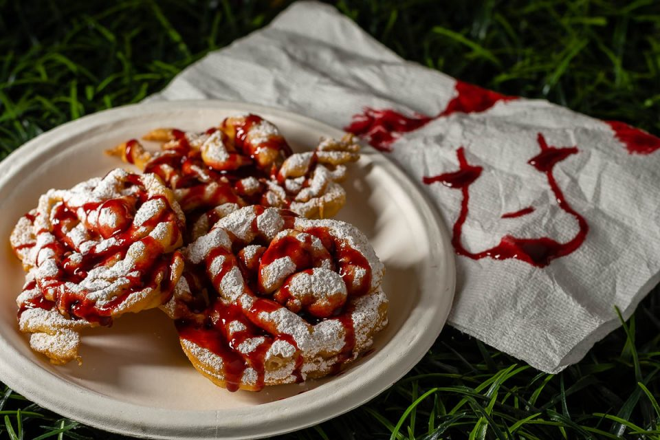 Horror Movie Food | Horror Recipes | Halloween Recipes | Movie Night | In order to get ready for what promises to be one of the scariest movies of the year, The Geeks have created a recipe for Derry Canal Days Funnel Cakes, inspired by IT: Chapter 2. 2geekswhoeat.com