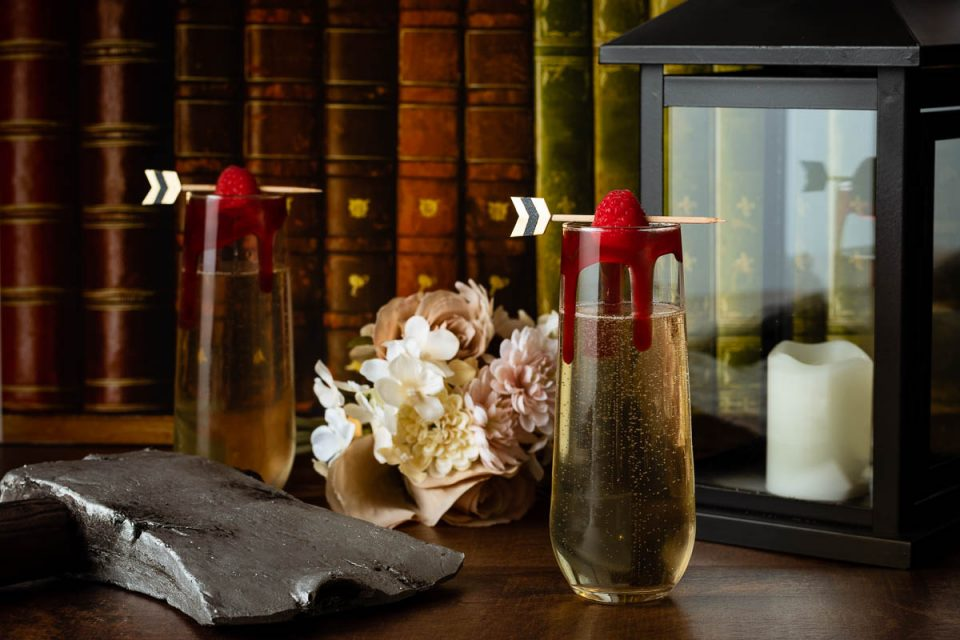 Horror Recipes   Halloween Recipes   Halloween Cocktails   Inspired by the wedding vibes of Ready or Not, The Geeks have put together a tasty yet gruesome way to enjoy champagne, The Survivor's Celebration. 2geekswhoeat.com