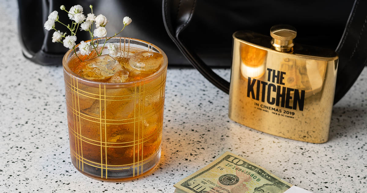 Cocktail Recipes | The Kichen | Comic Book Inspired Recipes | Movie Recipes | The Geeks have created a masculine yet feminine cocktail featuring Irish Whiskey and amaretto inspired by the mob families in the film The Kitchen. 2geekswhoeat.com