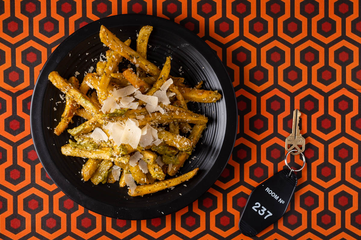 """To get ready for the release of Doctor Sleep, The Geeks have put together a great guide for """"doctoring"""" up french fries, Danny Torrance's favorite food! 2geekswhoeat.com #StephenKing #FrenchFries #HorrorFood #GeekyFood #DoctorSleep #FrenchFryRecipes"""